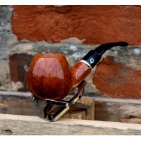 Lorenzetti Italy Smooth Light Brown Apple Full Bent Pipe (LZ11)