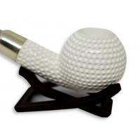 Meerschaum Golf Ball Textured Sterling Silver Pipe (MEER20)