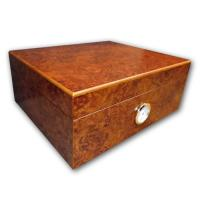 Oxford Dark Burl Cigar Humidor - Best Seller - 40 Cigars Capacity