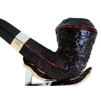 Peterson Sherlock Holmes Hansom Rustic Silver Mounted P/Lip Pipe (PE143)