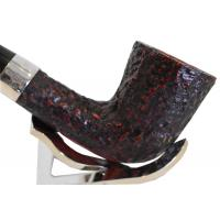 Peterson Sherlock Holmes MyCroft Rustic Silver Mounted P/Lip Pipe (PE154)