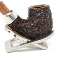 Peterson Derry Rustic X220 Coffee Nickle Mounted Fishtail Pipe (PE185)