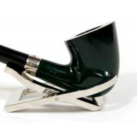JANUARY SALE - Peterson Churchwarden D15 Green Nickel Mounted Fishtail Pipe (PEC026)