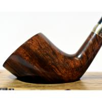 Peterson Churchwarden D6 Smooth Nickel Mounted Fishtail Pipe (PEC095)