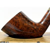 Peterson Churchwarden D6 Smooth Nickel Mounted Fishtail Pipe (PEC098)