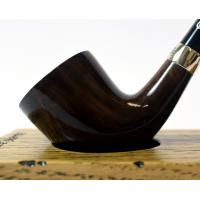 Peterson Churchwarden D6 Grey Nickel Mounted Fishtail Pipe (PEC128)