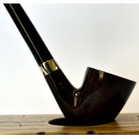 Peterson Churchwarden D15 Grey Nickel Mounted Fishtail Pipe (PEC152)