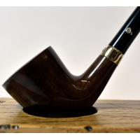 Peterson Churchwarden D6 Smooth Nickel Mounted Fishtail Pipe (PEC158)