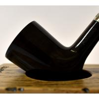 Peterson Churchwarden D17 Grey Nickel Mounted Fishtail Pipe (PEC168)