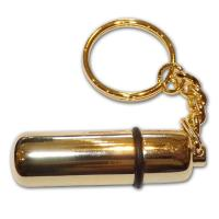 Budget Cigar Punch Cutter with Key Ring - Gold