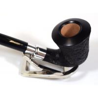 Rattrays Carnyx 126 Sandblast Black 9mm Filter Churchwarden Fishtail Pipe (RA563)