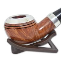 Peterson Silver Cap Silver Mounted Natural 999 Pipe (SC005)
