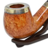 Peterson Silver Cap Silver Mounted Natural 68 Pipe (SS1035)