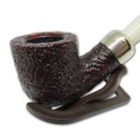 Peterson 2017 Christmas Rustic Bent 001 9mm Filter Fishtail Pipe (G1054)