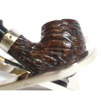 Baby Bent Rear Briar Rustic Brown Pipe