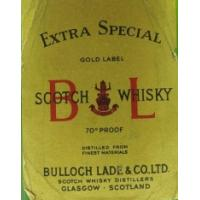 Bulloch Lade Gold Label 1970s Miniature - 70 Proof