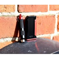 Colibri Monza Single Jet Lighter & Punch Cutter Set -  Red (End of Line)