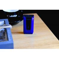Colibri Slide Twin Double jet Flame Lighter - Blue & Black
