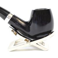 Alfred Dunhill - The White Spot Dress 4113 Group 4 Bent Apple Silver Mounted Pipe (DUN125)