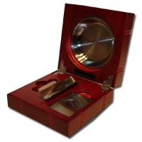 Folding Cigar Ashtray with Accessories - Rosewood Finish Gift