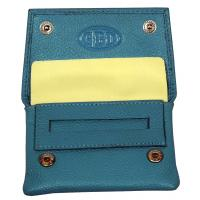 GBD Mini Teal Leather Patterned Roll Your Own Pouch (GBDP03)