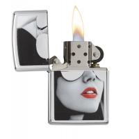 Zippo - Gold Design Sunglasses Red Lipstick - Windproof Lighter