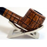Hardcastle Briar Root 112 Checkerboard Fishtail Straight Pipe (H0054)