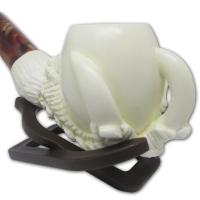 Small Claw Holding Plain Bowl Meerschaum Pipe