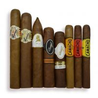 Oxford Dark Burl Humidor and Exclusive Cigar Selection Sampler