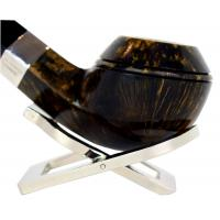 Peterson Sherlock Holmes Squire Dark Silver Mounted P Lip Pipe (PE140)