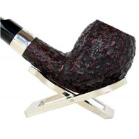 Peterson Sherlock Holmes Strand Rustic Silver Mounted P Lip Pipe (PE141)