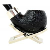 Peterson Blackrock Army Sandblast XL02 Silver Mounted Fishtail Pipe (PE163)