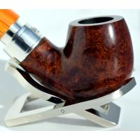 Peterson Rosslare Royal Irish 221 Silver Mounted Fishtail Pipe (PE204)