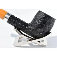 Peterson Rosslare 106 Rustic Silver Mounted Fishtail Pipe (PE993)