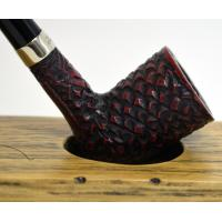 Peterson Churchwarden D17 Rustic Nickel Mounted Fishtail Pipe (PEC029)