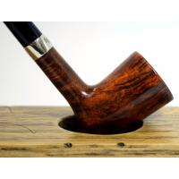 Peterson Churchwarden D17 Smooth Nickel Mounted Fishtail Pipe (PEC030)