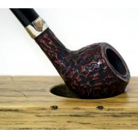 Peterson Churchwarden Prince Rustic Nickel Mounted Fishtail Pipe (PEC044)