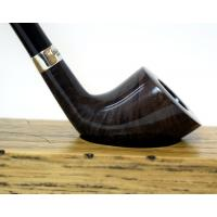 Peterson Churchwarden D6 Grey Nickel Mounted Fishtail Pipe (PEC046)