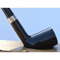 Peterson Churchwarden Dublin Grey Nickel Mounted Fishtail Pipe (PEC073)