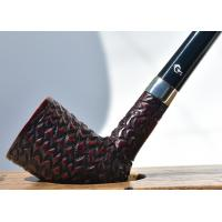Peterson Churchwarden D17 Rustic Nickel Mounted Fishtail Pipe (PEC118)
