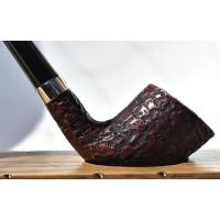 Peterson Churchwarden D6 Rustic Nickel Mounted Fishtail Pipe (PEC129)