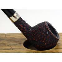 Peterson Churchwarden Prince Rustic Nickel Mounted Fishtail Pipe (PEC144)