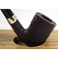Peterson Churchwarden D16 Rustic Nickel Mounted Fishtail Pipe (PEC147)