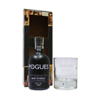 Pogues Irish Whiskey Gift Pack - 20cl Bottle with Glass
