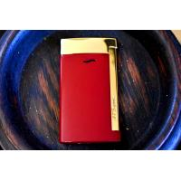 ST Dupont Slim 7 - Flat Flame Torch Lighter - Red and Gold
