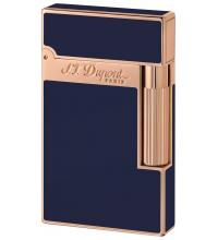 ST Dupont Lighter – Ligne 2 – Blue Chinese Lacquer & Rose Pink Gold
