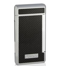 Caseti Twin Jet Lighter – Black Carbon Fibre Effect