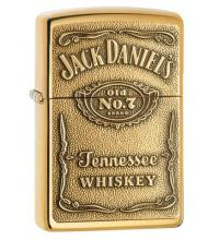 Zippo - Jack Daniels Brass Emblem - Windproof Lighter