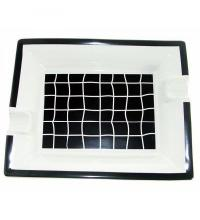 Ceramic Two Rest Cigar Ashtray - Black And White Check