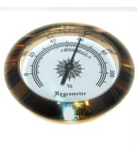 Analogue Hygrometer � Brass Finish  - 2 inch